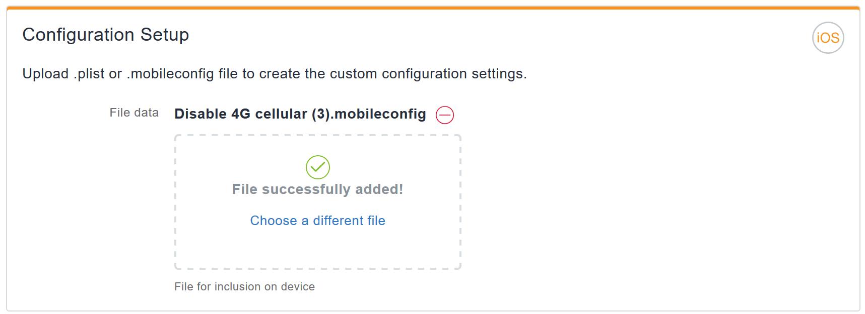 MobileIron Cloud - Disable cellular (domestic) data for iOS